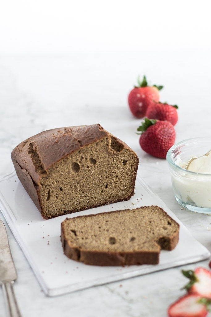 Slice of almond butter bread