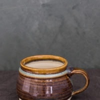 Hand-Thrown Ceramic Multi-Stripe Mug