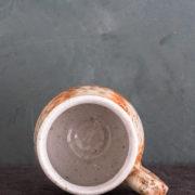 Hand-thrown ceramic large textured mug
