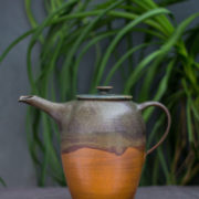 Hand-thrown ceramic wave tea pot