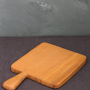 Hand-Carved Square Cutting & Serving Board (Beech Wood)
