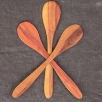 Hand-Carved Stirring Spoon (Plum Wood)