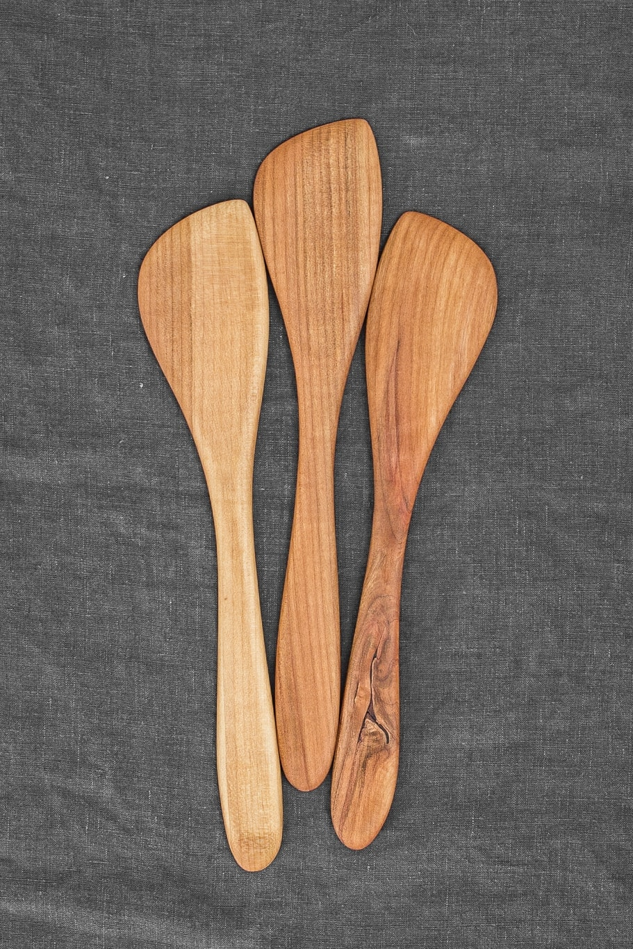 Hand-Carved Stirring Paddle (Cherry Wood)