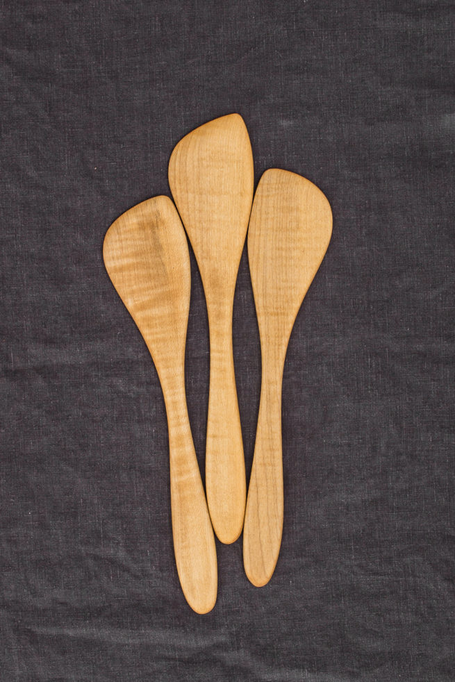 Hand-Carved Stirring Paddle (Maple Wood)