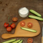 Hand-Carved Small Cutting & Serving Board (Cherry Wood)