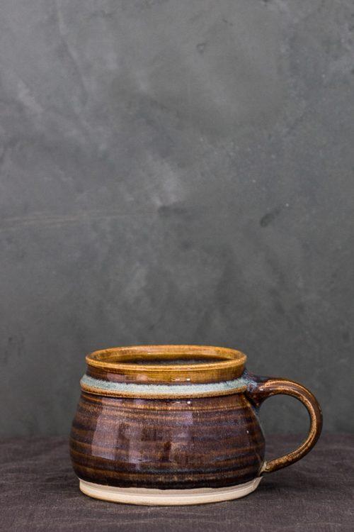 multi stripe ceramic cup