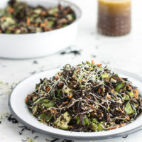seaweed-vegetable salad with ginger-lemon dressing