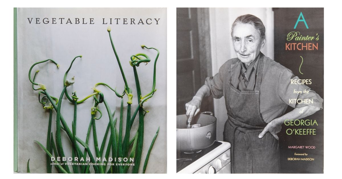 Two book covers. Vegetable Literacy and A Painter's Kitchen