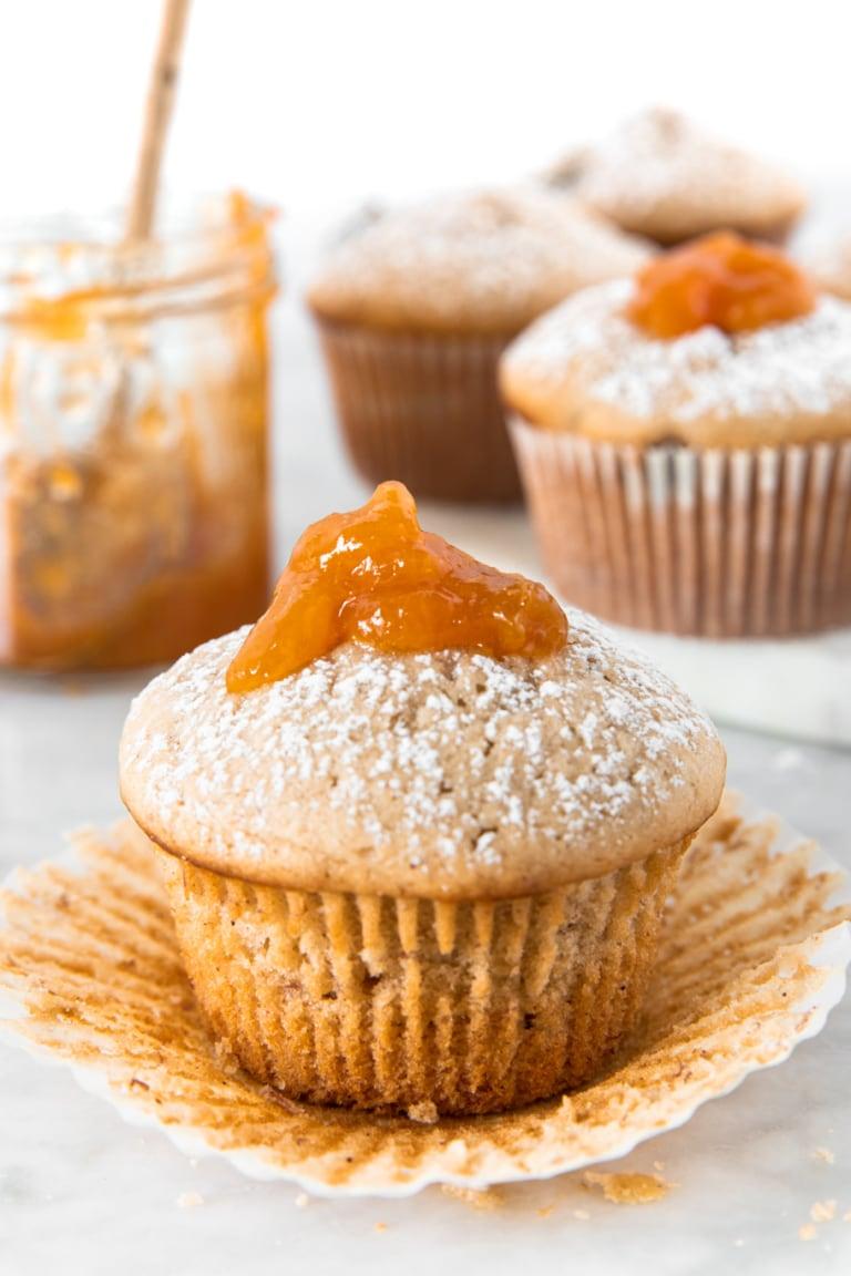 Vegan Banana Apricot Muffins