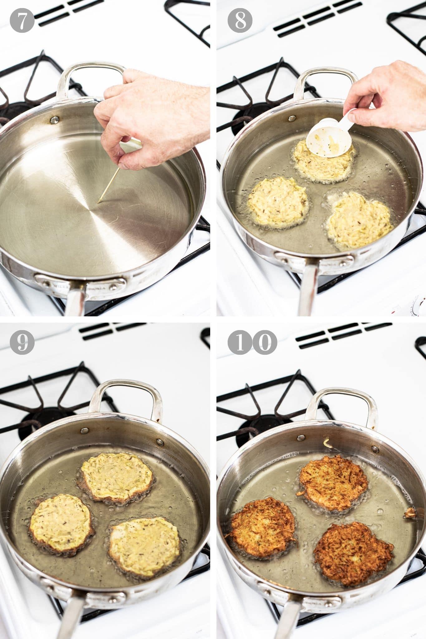 Steps to fry Czech potato pancakes (bramboráky) from verygoodcook.com