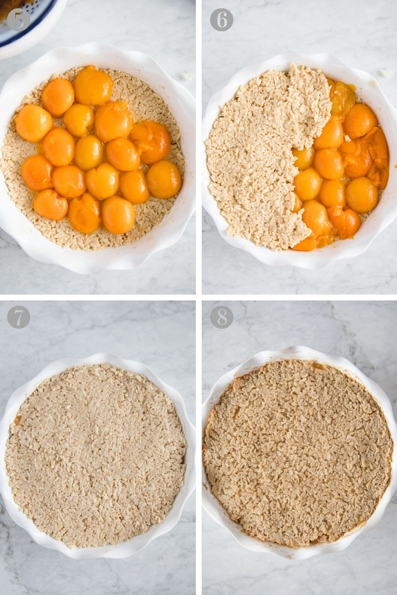Steps to make Baked Rice Pudding with Apricots from verygoodcook.com