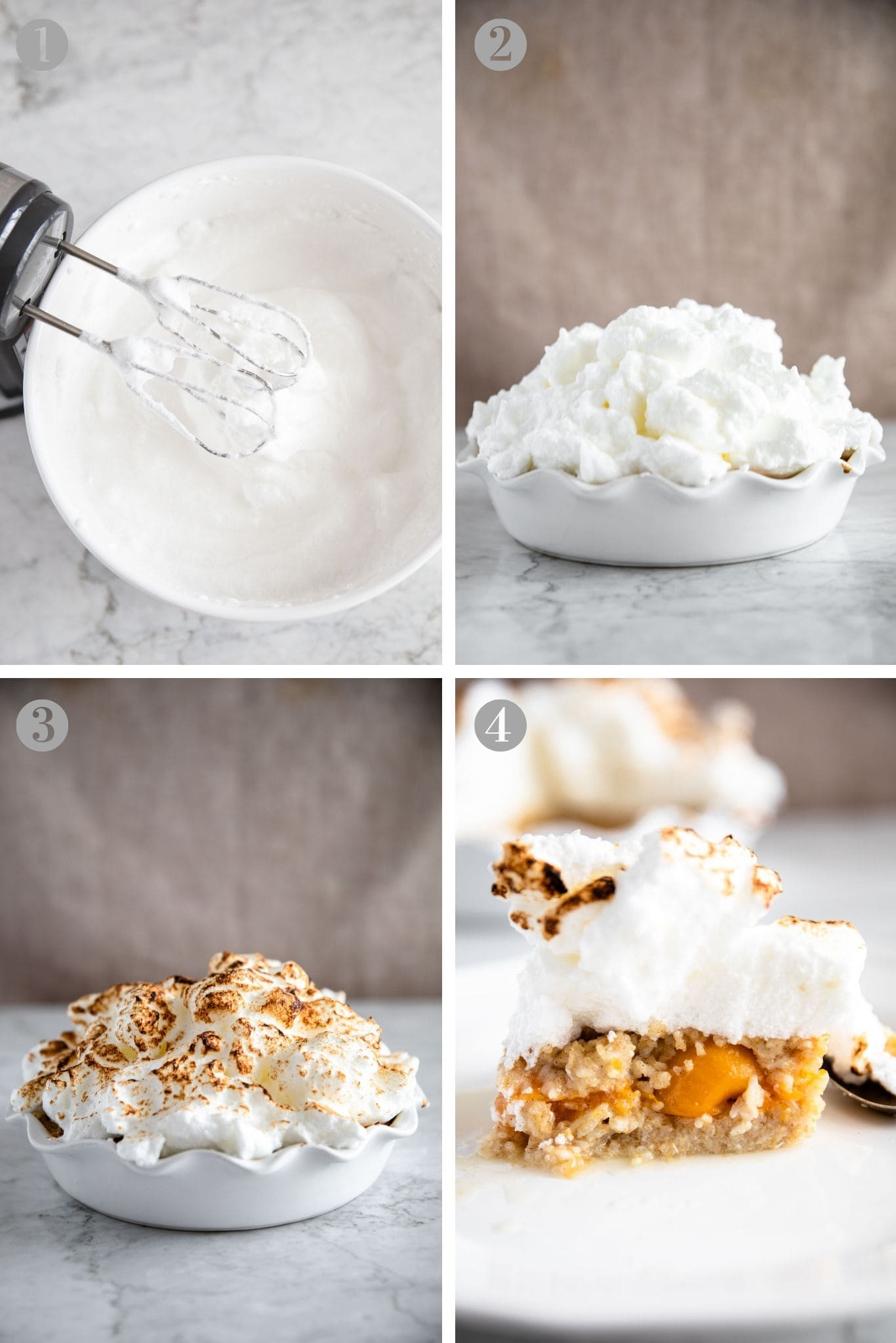Steps to make meringue for Baked Rice Pudding with Apricots from verygoodcook.com