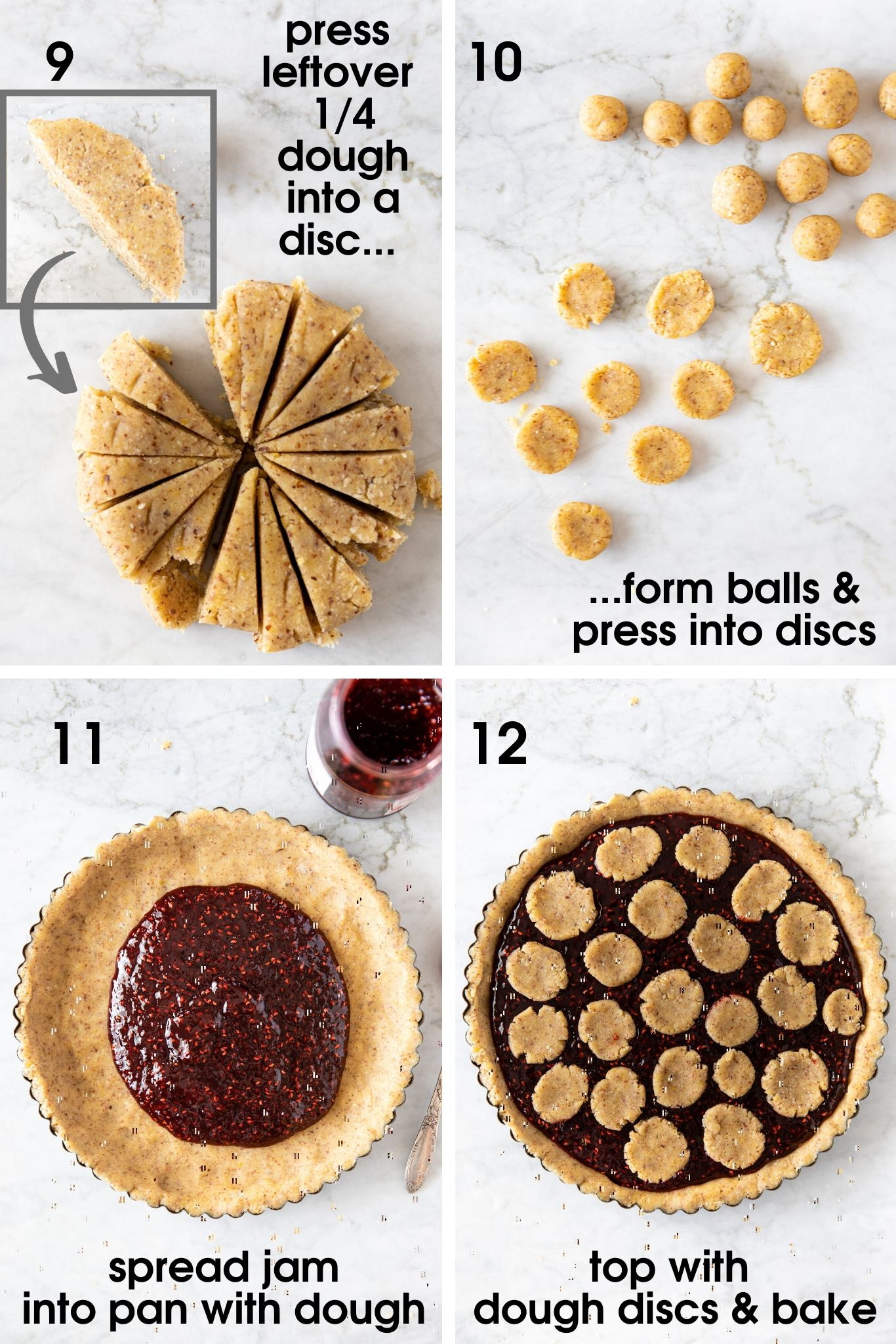 Linzer Torte with Raspberry Jam from verygoodcook.com and how to make it