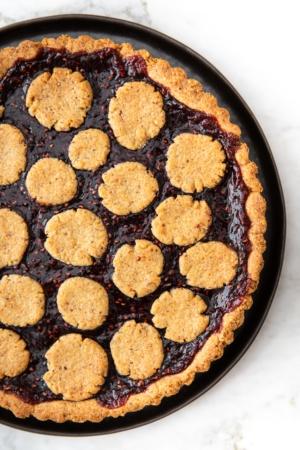 Linzer Torte with Raspberry Jam from verygoodcook.com