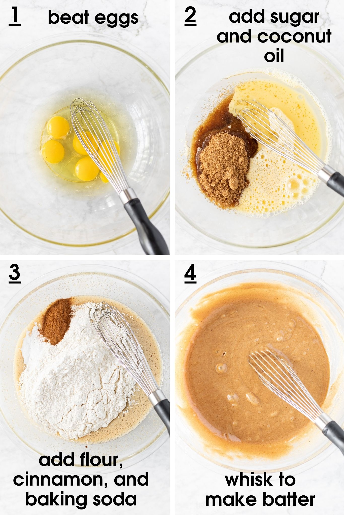 Steps showing how to make batter for Apple Pecan Chocolate Coffee Cake | from verygoodcook.com